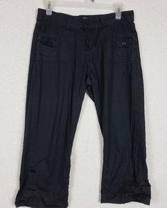Dots cropped black pants size 5/6